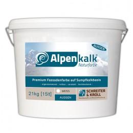 Alpenkalk Premium Fassadenfarbe, 21kg
